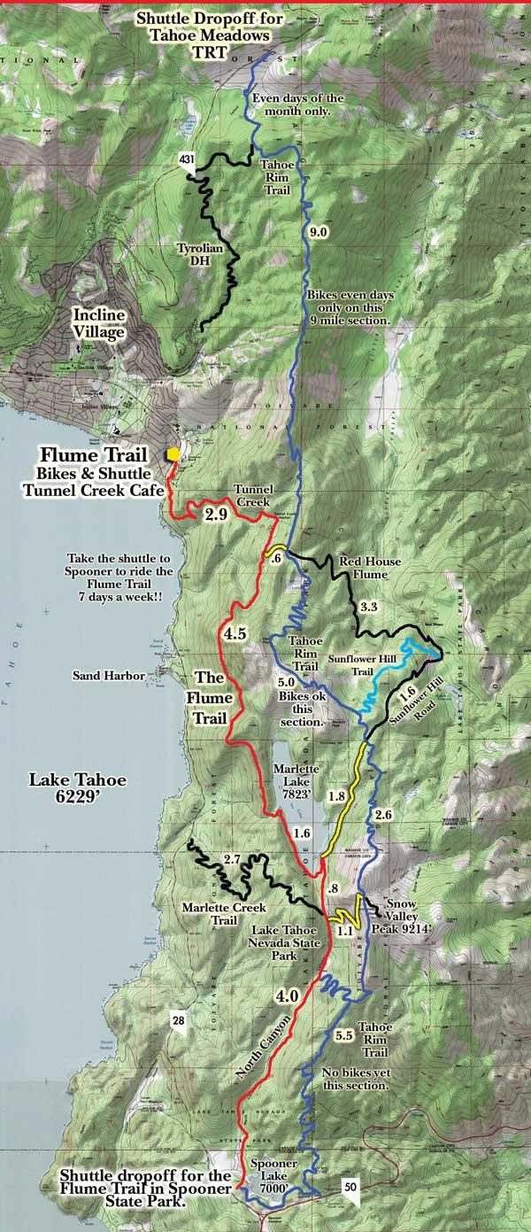 Flume Trail Bikes Trail Info